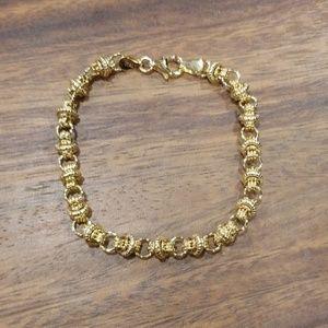 Jewelry - 14K Real Italian Gold Circle & Rondel Bracelet
